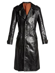 Balenciaga Hybrid Leather Trench Coat Black