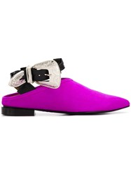 Toga Pulla Buckle Mules Purple