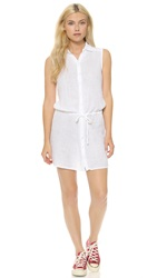 Three Dots Double Gauze Cover Up Dress White