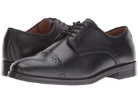 Polo Ralph Lauren Morgfield Black Burnished Leather Men's Lace Up Cap Toe Shoes