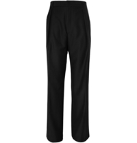 Givenchy Wide Leg Wool Trousers Black
