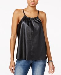 Chelsea Sky Faux Leather Tank Top Only At Macy's Black