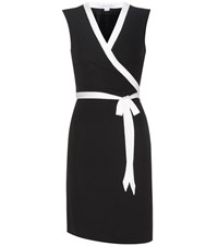 Diane Von Furstenberg Valena Wrap Dress Black