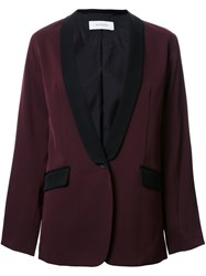 En Route Shawl Collar Blazer Red