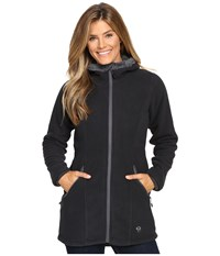 Mountain Hardwear Dual Fleece Hooded Parka Black Graphite Women's Coat