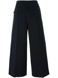 Joseph Cropped Wide Leg Trousers Black