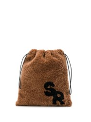 Simonetta Ravizza Shearling Mini Bag Brown