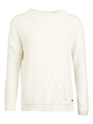 Barbour Block Texture Jumper Cloud
