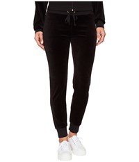 Juicy Couture Zuma Velour Pants Pitch Black Women's Casual Pants