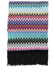 Missoni Vladimiro Fringed Throw Multicolor