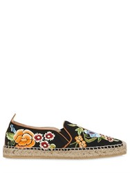 Etro 20Mm Embroidered Silk Espadrilles