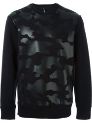 Neil Barrett Tonal Fur Effect Sweatshirt Black