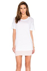Monrow Double Layer Tee Shirt Dress White
