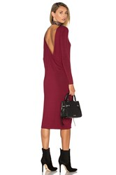 The Fifth Label Time Lapse Long Sleeve Dress Burgundy