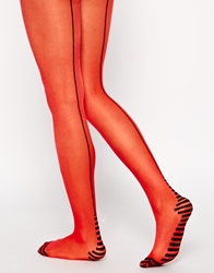 Jonathan Aston Stripe Tights Redblack