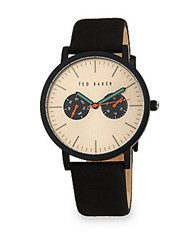 Ted Baker Multifunction Analog Sports Watch Black