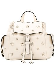 Red Valentino Stars Studded Backpack White