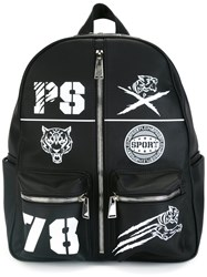 Plein Sport Patch Detail Backpack Black
