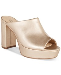 Charles By Charles David Miley Platform Mules Women's Shoes Soft Gold