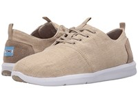 Toms Del Rey Natural Burlap Men's Lace Up Casual Shoes Beige