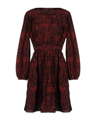 Walter Baker Short Dresses Brick Red