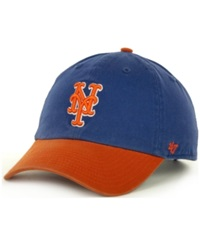'47 Brand New York Mets Clean Up Hat Royalblue Orange