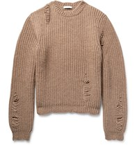 J.W.Anderson Distressed Alpaca And Wool Blend Sweater Brown