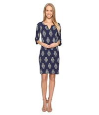 Hatley Peplum Sleeve Dress Navy Floral Women's Dress