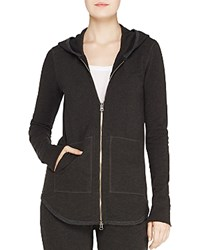 Atm Anthony Thomas Melillo Zip Up Hoodie Heather Charcoal
