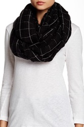 Cejon Window Pane Infinity Scarf Black