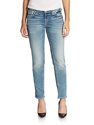 True Religion Mid Rise Boyfriend Jeans Blue Denim