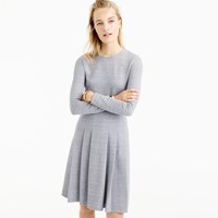 J.Crew Pleated Heathered Ponte Dress