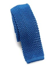 Ralph Lauren Knit Silk Tie Blue