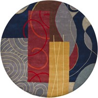 Chandra Bense 3015 Patterned Round Contemporary Area Rug Various