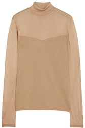 Missoni Wool Blend Turtleneck Sweater Nude