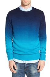 Bellfield Dip Dye Crewneck Sweater Navy