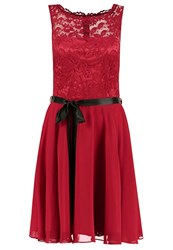 Swing Cocktail Dress Party Dress Rot Dark Red