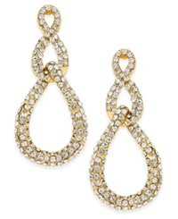 Inc International Concepts Gold Tone Pave Link Drop Earrings Only At Macy's