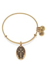 Women's Alex And Ani 'Armenian Cross' Expandable Wire Bangle Gold