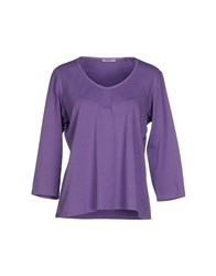 Persona Topwear T Shirts Women Purple