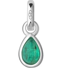 Links Of London May Sterling Silver And Emerald Mini Birthstone Charm Green