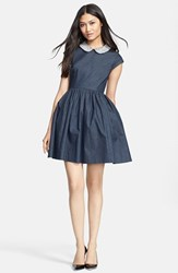 Kate Spade Women's New York 'Kimberly' Embellished Denim Fit And Flare Dress