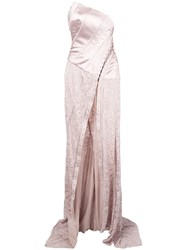 John Galliano Vintage Corset Lace Gown Pink And Purple
