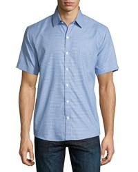Zachary Prell Printed Short Sleeve Woven Shirt Blue Men's