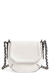 Rag And Bone Rag And Bone 'Mini Bradbury' Leather Hobo White White Crackle