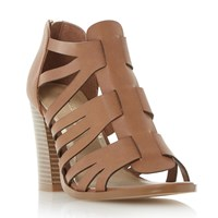 Head Over Heels Jasinda Multi Strap Sandals Tan