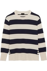 J.Crew Cheyne Striped Cashmere Sweater Cream