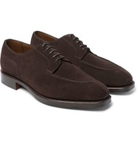 Edward Green Dover Suede Derby Shoes Brown