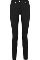 Versace High Rise Skinny Jeans Black