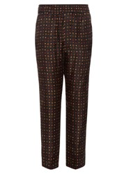 Isabel Marant Toya Diamond Print Trousers Black Multi